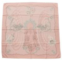 カレ90 シルクスカーフ Doigts de Fee 妖精の指 ピンク