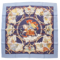 カレ90 シルクスカーフ CAVALIERS DES NUAGES 雲の騎士