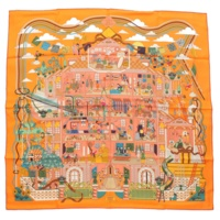 カレ90 シルクスカーフ La Maison des Carres メゾン・デ・カレ オレンジ