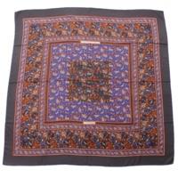 カレ140 カシミヤ シルク スカーフ CHASSE EN INDE インドの狩猟