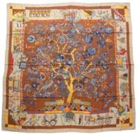 カレ140 カシミヤ シルクスカーフ Fantaisies Indiennes 眩惑のインド