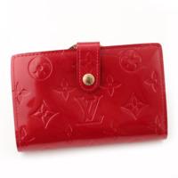 ポルトフォイユ ヴィエノワ ヴェルニ がま口 二つ折り財布 M91980 レッド