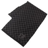 エシャルプ プティダミエ ウール マフラー M74200 ブラック×グレー