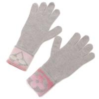 モノグラムサンセット カシミヤ混 グローブ 手袋 M73049 グレー×ピンク