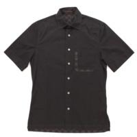 ダミエグラフィット メンズ 半袖 シャツ ブラック XXS