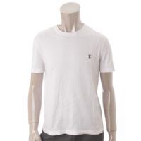 メンズ ロゴ刺繍 Tシャツ ホワイト S