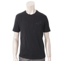 メンズ ダミエ コットン Tシャツ ブラック XS