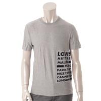 メンズ ベロア Tシャツ グレー S