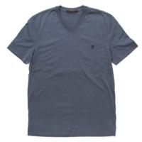 メンズ Vネック 半袖 Tシャツ トップス ブルー S