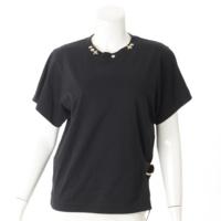 19SS サイドストラップ 半袖 Tシャツ カットソー ブラック XS