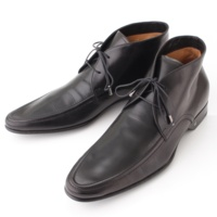 メンズ レザー ミドルカット ブーツ シューズ  ブラック 7