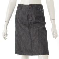 モノグラムマルチ デニム スカート ブラック 36