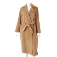 ウール ロングコート オーバーサイズ キャメル 38
