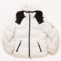 キッズ 子供服 フード付き ダウンジャケット ホワイト 152CM 12ANNI