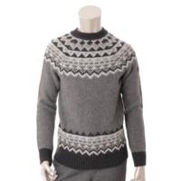 メンズ ウール ノルディック セーター トップス 97608 グレー M
