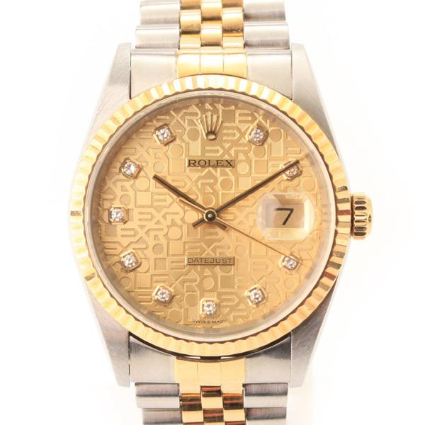 デイトジャスト 10Pダイヤモンド コンピューター文字盤 自動巻き 腕時計 16233G P番