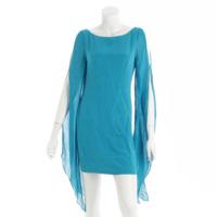 パトリシアフィールド シルク ワンピース ドレス ブルー