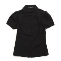 フレンチスリーブ ブラウス シャツ 25599 ブラック