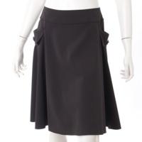 ポケット付き スカート 25186 ブラック 40