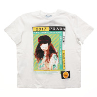 17AW Poster Girl プリント Tシャツ ホワイト
