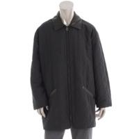 ガンチーニ メンズ キルティング コート ブラック