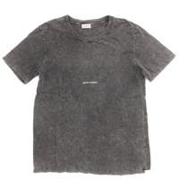 17SS メンズ スクウェア付き ウォーンルック Tシャツ トップス 498281 ブラック S