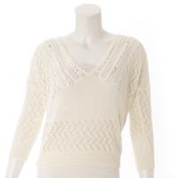 ニット トップス セーター 414718 ホワイト S