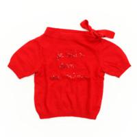 キッズ 子供服 スパンコール ニット トップス セーター レッド
