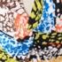 総柄 ドレープ ドレス ワンピース マルチカラー S