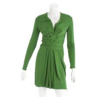 シルク ワンピース ドレス グリーン