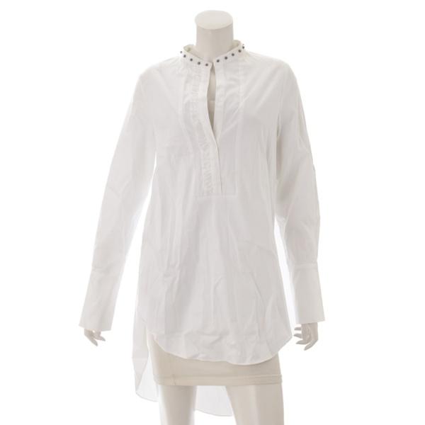 スタッズ ブラウス シャツ 19SHT403 ホワイト M