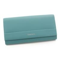 コンチネンタル フラップウォレット レザー 二つ折り 長財布 ブルー