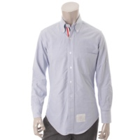 メンズ トリコロール ボタンダウンシャツ ブルー 0