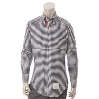 メンズ ギンガムチェック トリコロール シャツ ホワイト×ブラック 1