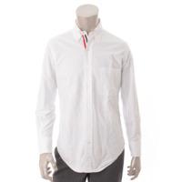 メンズ トリコロール オックスフォード ボタンダウンシャツ ホワイト 0