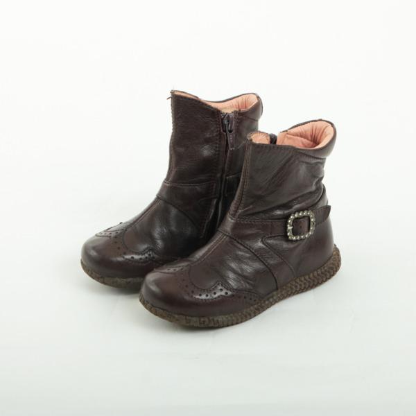 ウニーサ 子供用ブーツ ダークブラウン