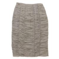 シルク チュール スカート グレー 36